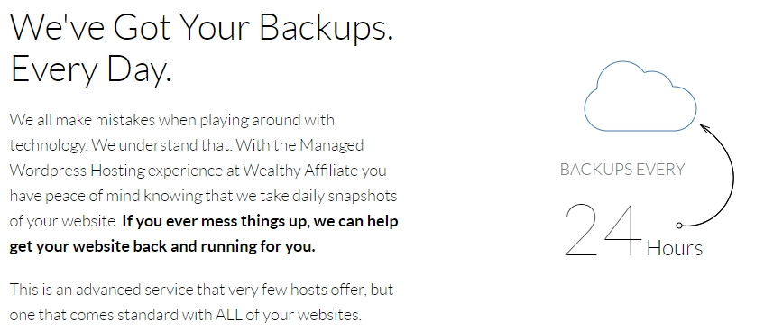 Wealthy Affiliate Backups